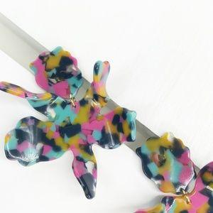 lele sadoughi Jewelry - LELE SADOUGHI | Paper Lily Earrings Jungle Punch